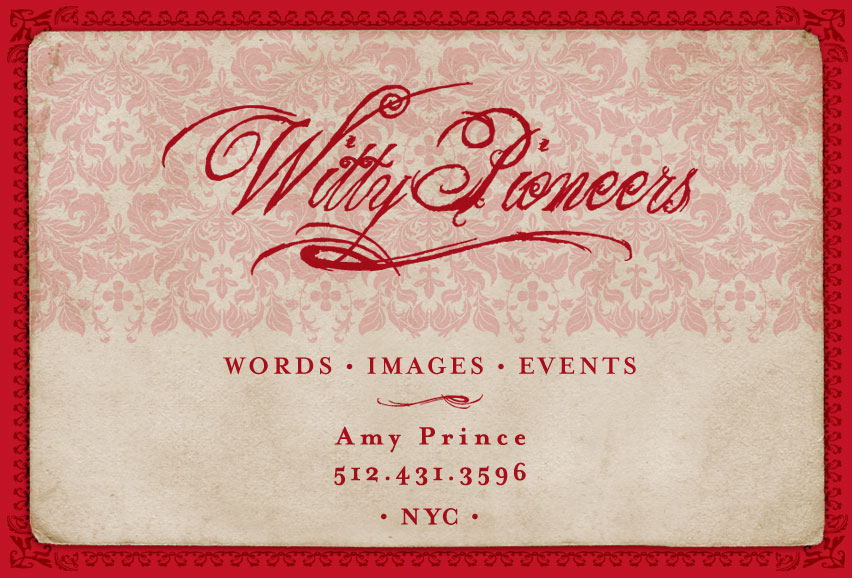 Send email to amy@wittypioneers.com